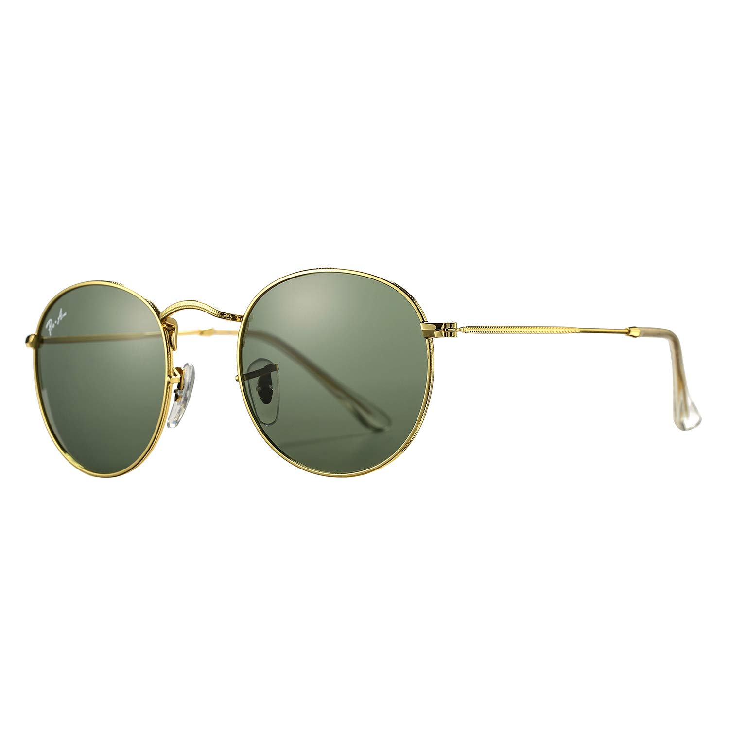 Pro Acme PA3447 Classic Crystal Glass Les Retro Round Metal Sunglasses,50mm (Crystal G15 Green Lens) by Pro Acme