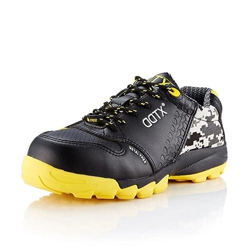 DDTX Ultraligeros con Cómodo Zapatos de Seguridad Deportivos Unisex-Adulto Negro(37)