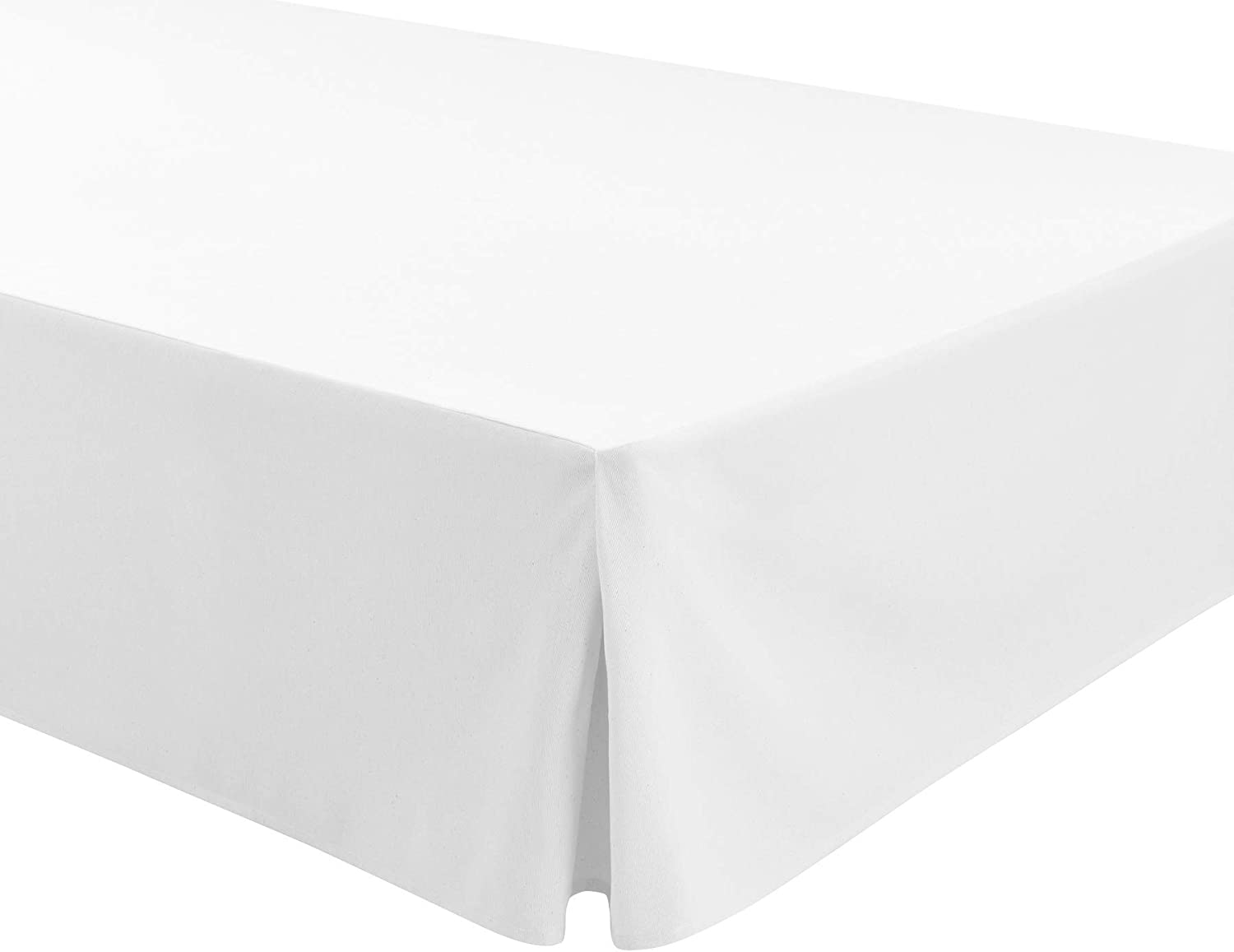 90x190//200cm Base Platform Valance Sheet box Pleated For Somier ATENEA Easycosy Colour White Bed Frill 32cm