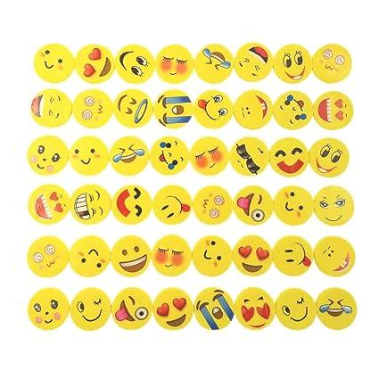 Amazon.com: JZK 48 x Novelty erasers Smile Laughing Shy ...