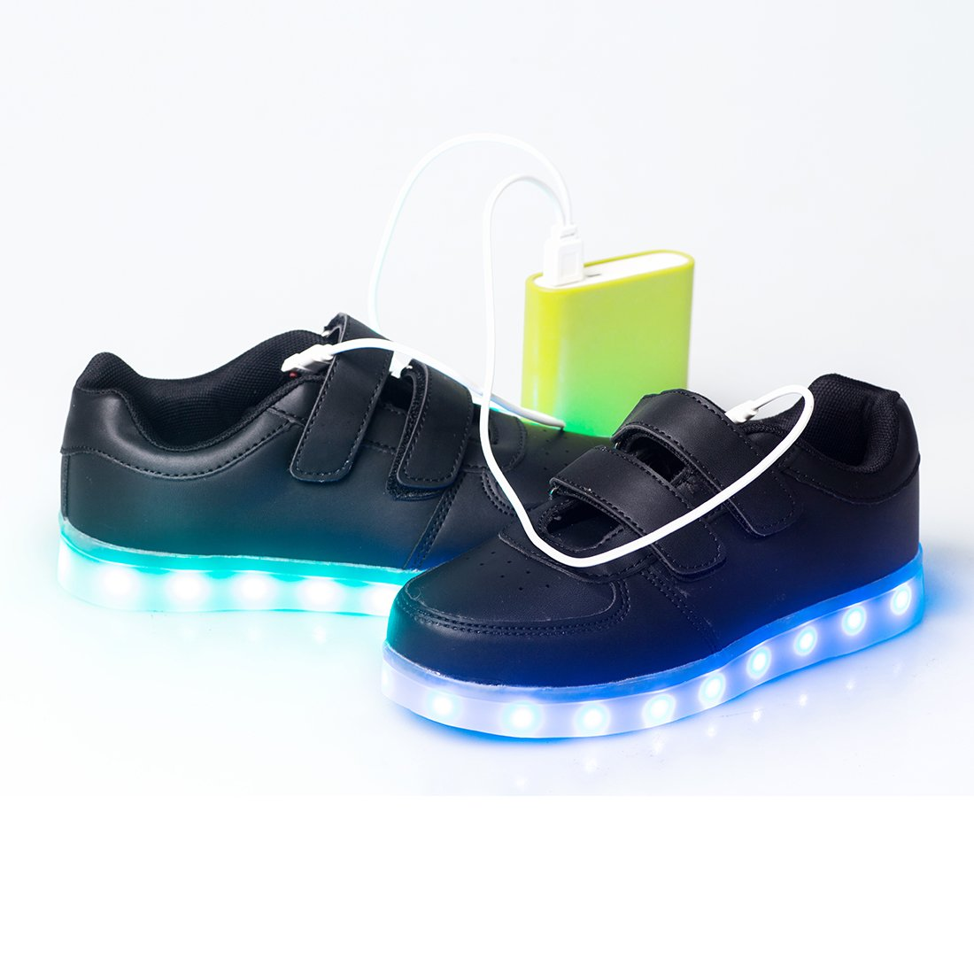 Lapens LED Light Up Shoes Rechargeable USB Flashing Fashion Sneakers for Kids Boys Girls