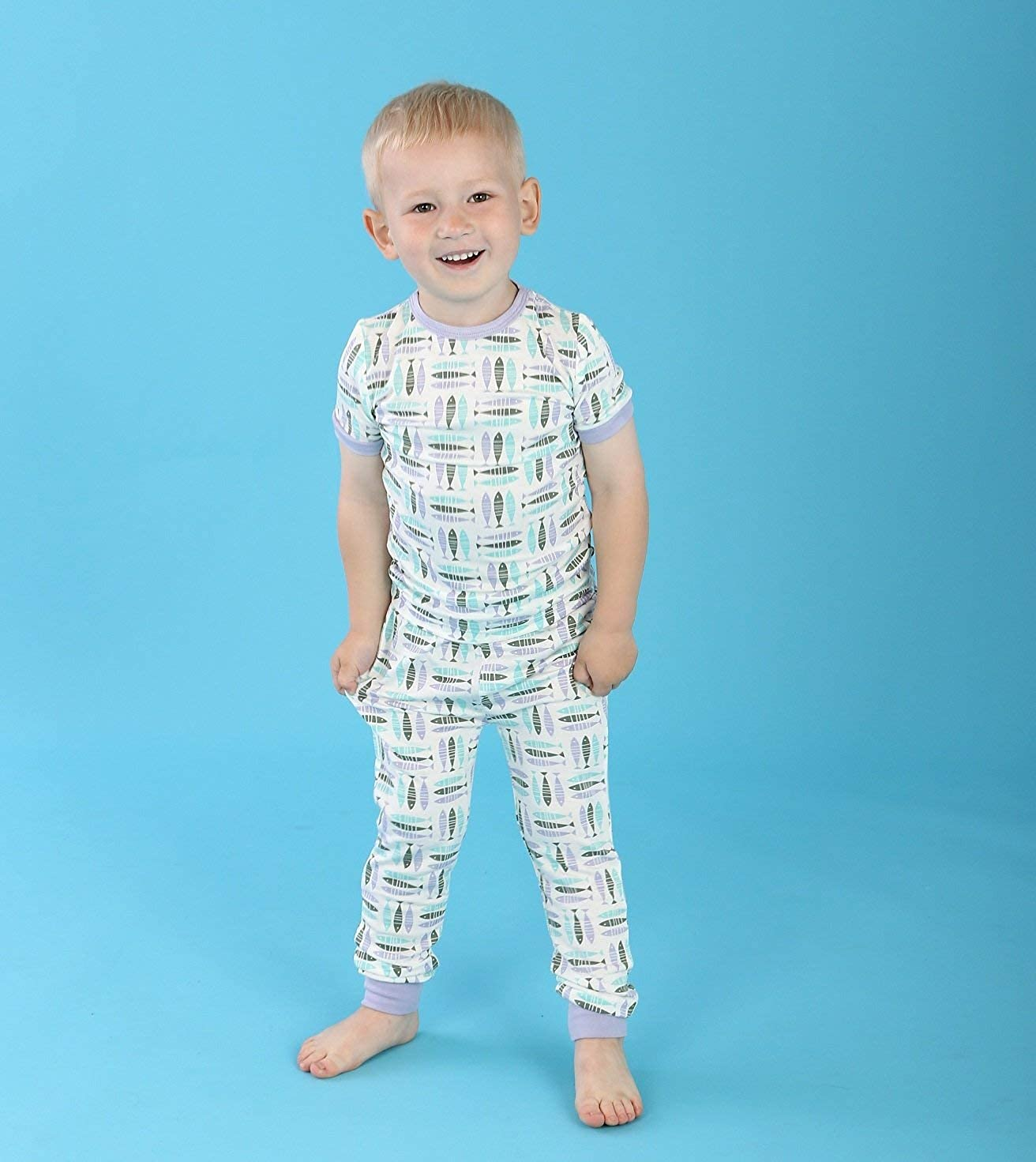 d6f8cbf8f Amazon.com  Silkberry Baby Bamboo Unisex-Baby Pajama Set  Clothing