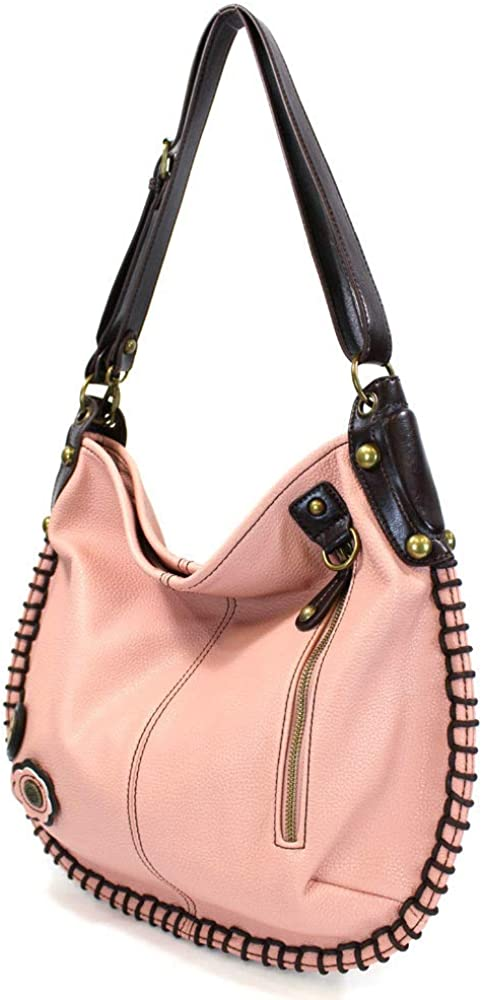 PINK CHALA Charming Crossbody or Shoulder Convertible Large Tote Purse Vegan Leather Baby Turtle