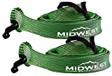fishing rod socks - Baitcast Fishing Rod Sleeve Rod Sock Cover 2 Pack By Midwest Outfitters (Black/Lime)
