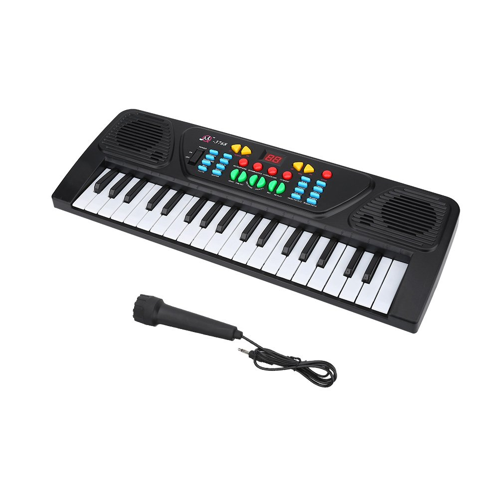 Children Electric Keyboard Piano, 37-Keys Kids Digital Piano Educational Music Instrumental Toy Alomejor