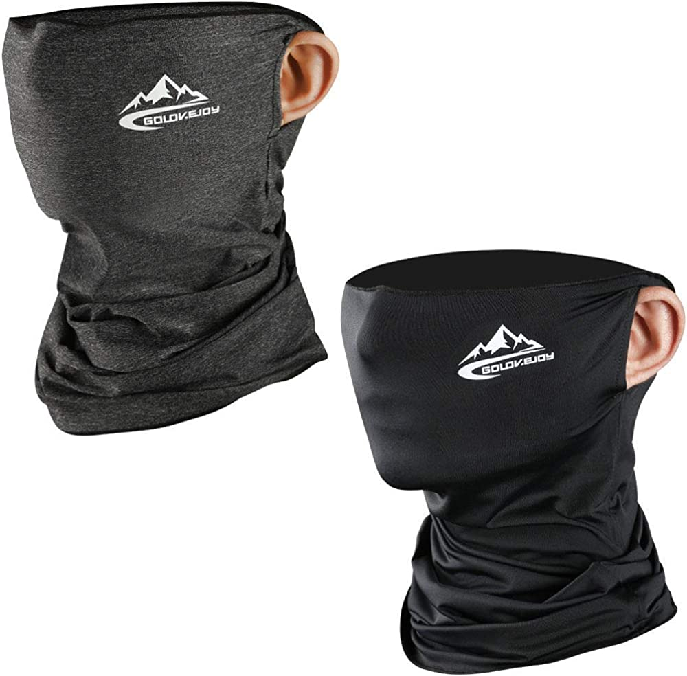 Breathable Multifunctional Balaclava Tube Neckwear Outdoor UV Protection Maylisacc 2pcs Bandana Headband Stretchy Neck Gaiter for Men Women