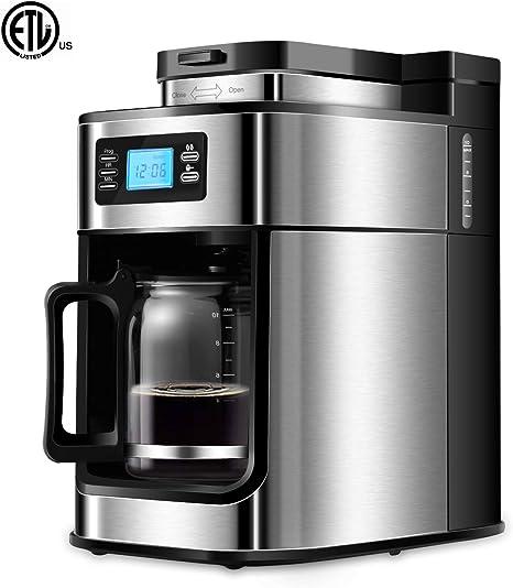 Amazon.com: Cafetera de goteo programable con 5 tamaños de ...