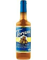Torani Sugar Free French Vanilla Flavour Syrup, 750ml