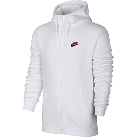 97aa791ae95d Image Unavailable. Image not available for. Color  Nike Mens Sportswear  Full Zip Club USA Hooded Sweatshirt White University Red ...