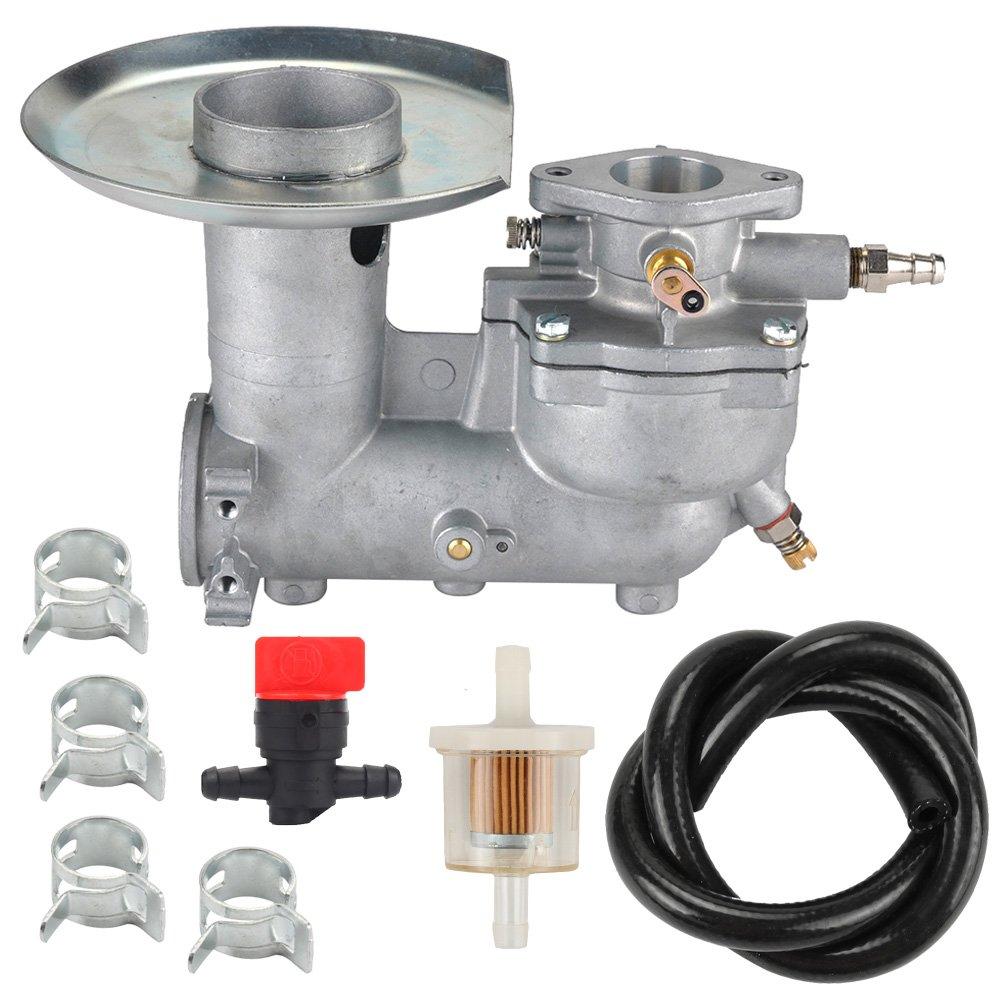 Harbot 392587 Carburetor+Fuel Line Filter Clamp Valve for Briggs & Stratton 391065 391074 391992 394745 Engine