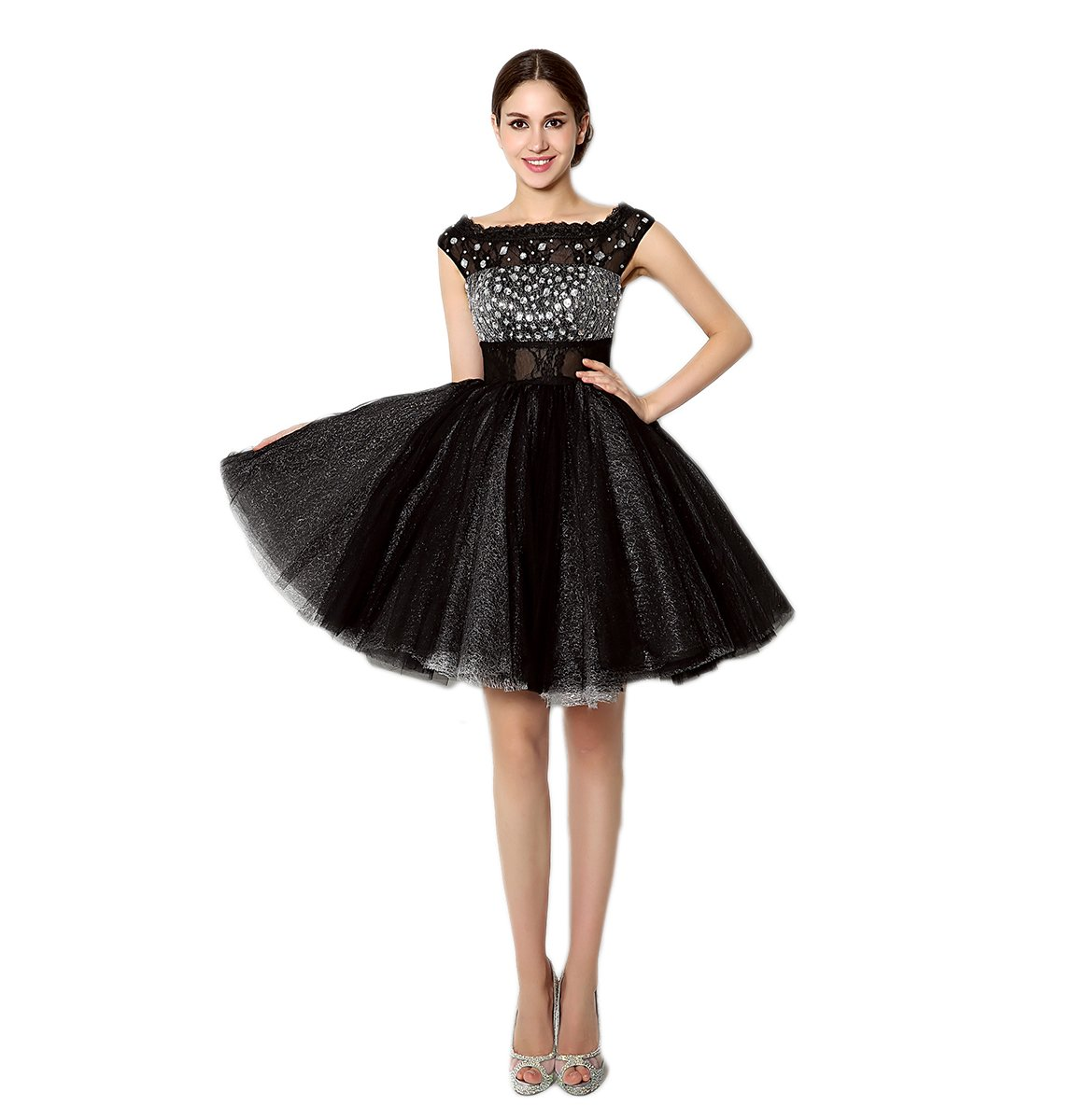 Love Dress Beading Black Short Prom Dress Party Gown Us 16