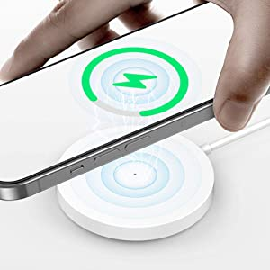 TIMESS 15W Qi Magnet Wireless Charger for iPhone 12 Mini/Max 12 Pro iPhone 11 Pro Max Fast Charging for Samsung S10 S9 Note 20 10 9 Huawei Xiaomi