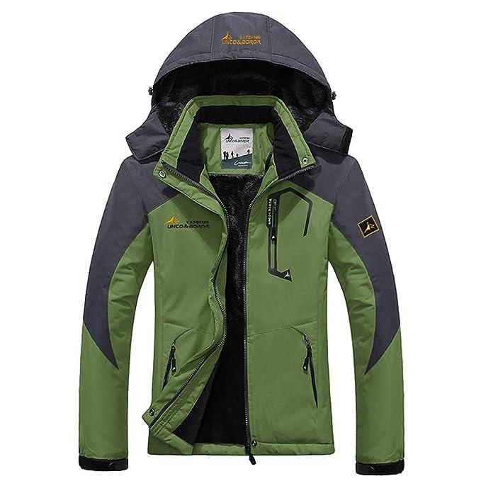 WANPUL Chaqueta Softshell Hombre Mujer Chaquetas Transpirable Chaqueta de Montaña Impermeable Chaqueta de Nieve a Prueba Viento Verde 3XL: Amazon.es: Ropa y ...