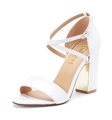 e1a379189ceb TRUFFLE COLLECTION Women s White Fashion Sandals-7 UK India (40 EU) (