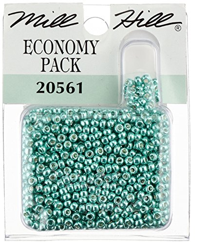 (Mill Hill Glass Seed Beads Economy Pack, Ice Green)