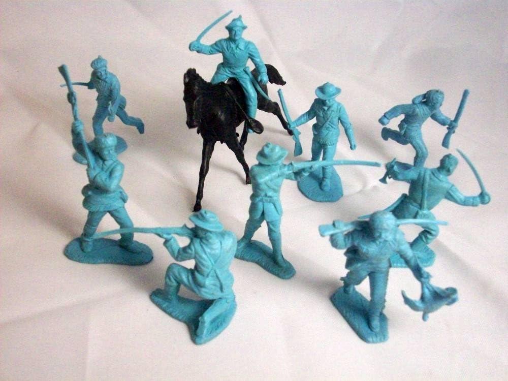 horses Marx reissue Alamo//Zorro playset mounted Mexicans X6