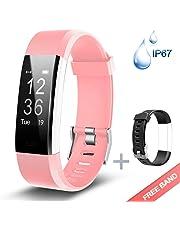 Lintelek, Fitness Tracker HR, Activity Tracker Watch Heart Rate Monitor, Waterproof Smart Fitness Band Step Counter, Calorie Counter, Pedometer Watch Kids Women Men