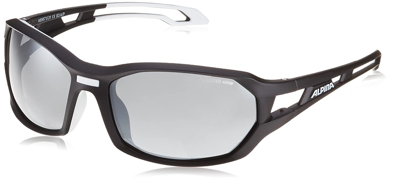 Alpina Lunettes de sport, Mixte, Sonnenbrille Amition Berryn P, black matt-White, Taille unique