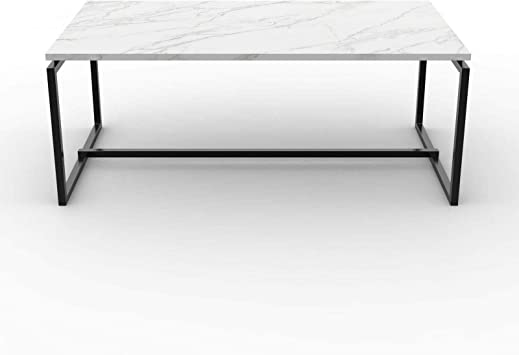 Amazon Com Adumly Metal Frame Cocktail Coffee Table Faux Marble