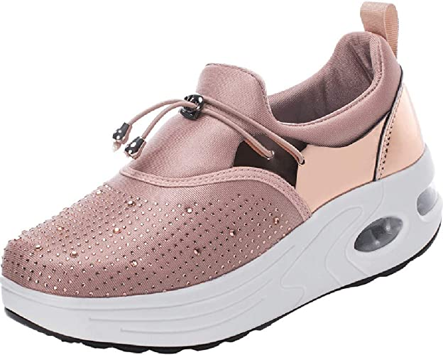 Zapatillas de Mujer con Plataforma de Moda para Mujer, Diamantes ...