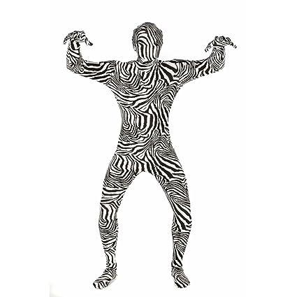 Morphsuit Disfraz cebra para adultos, XXL de tamaño S, 1 ...
