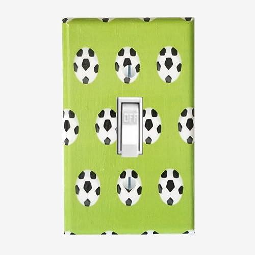 Amazoncom Soccer Light Switch Cover Sports Bedroom Kids Wall Decor