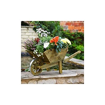 Smart Garden Extra Large Woodland Wheelbarrow Planter Amazon Co Uk
