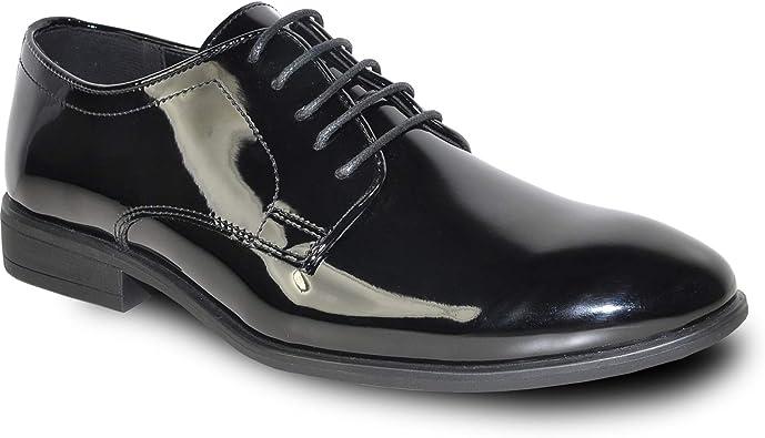 Amazon.com | VANGELO Men Oxford Dress Shoe Formal Tuxedo Shoe for Wedding,  Uniform and Prom -Wide Width Available | Oxfords
