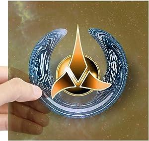 "CafePress Klingon Logo Design Square Sticker 3 X 3 Square Bumper Sticker Car Decal, 3""x3"" (Small) or 5""x5"" (Large)"