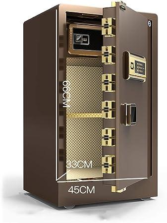 Convencionales Cajas Fuertes Caja Fuerte electrónica for el hogar con Medio contraseña Antirrobo Caja de Acero Completamente Segura Oficina Central de Cuero Cajas Fuertes: Amazon.es: Hogar