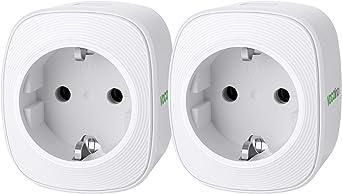 VOCOlinc Prise Intelligente WiFi Smart Plug Fonctionne avec HomeKit iOS12 ou + Alexa /& Google Assistant Minuterie de surveillance de l/énergie Aucun concentrateur requis 10A 2300W 2,4 GHz