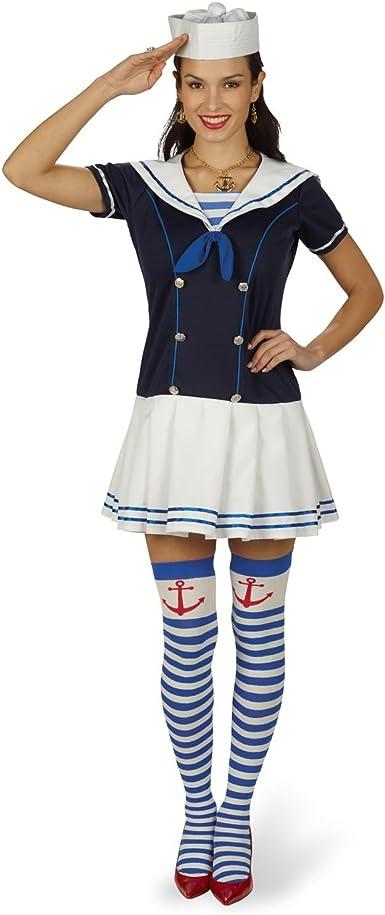 Disfraz de marinera sexy - minivestido de mujer para carnaval o ...