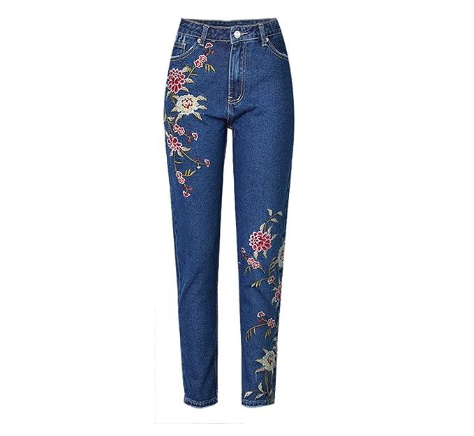 dangyin Jeans Ropa de Mujer Jeans Rectos Pantalones Vaqueros ...