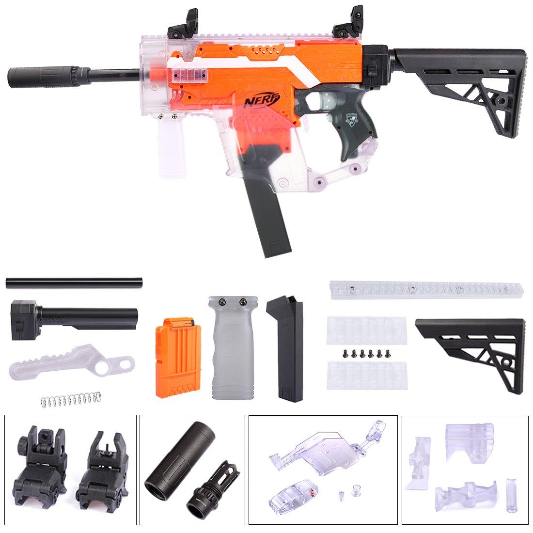 BGoldK Worker UpGröße Aussieht Mod Vector Kit + Schulterstütze für Nerf Stryfe Transparent 25cm