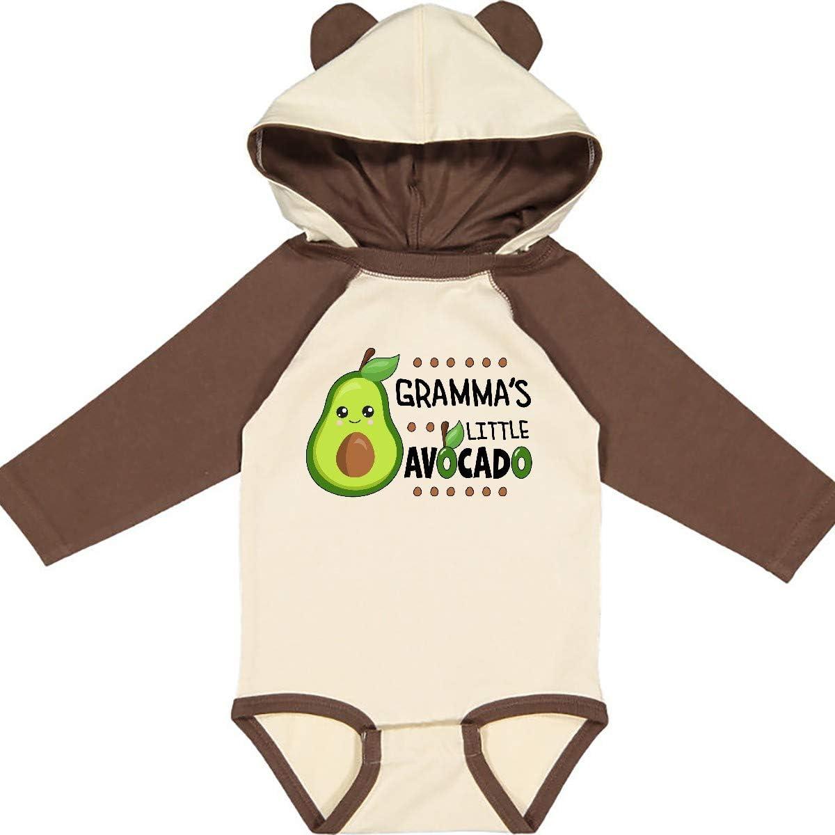 inktastic Grammas Little Avocado with Cute Baby Avocado Long Sleeve Creeper