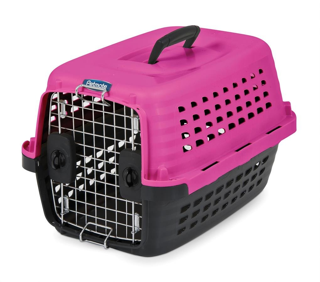 petmate  compass fashion pets kennel with chrome door hot  - petmate  compass fashion pets kennel with chrome door hot pinkblackamazonca pet supplies