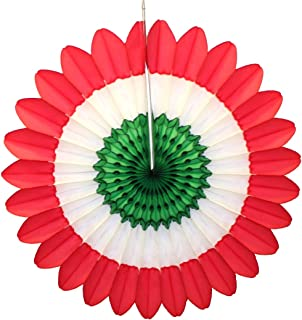 product image for Devra Party 6-Pack Red, White, and Green 18 Inch Tissue Paper Fanburst (Christmas Theme)