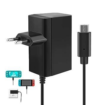 Cargador para Nintendo Switch/Switch Lite, innoAura Adaptador de CA Type-C de Carga Rápida con Suministro de 15V 2.6A y Cable de 6 Pies Compatible en ...