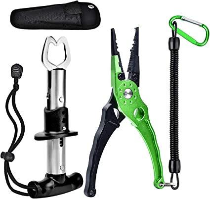 Telescoping Fishing Pliers Scissors Line Cutter Hook Remove Fishing gear tools