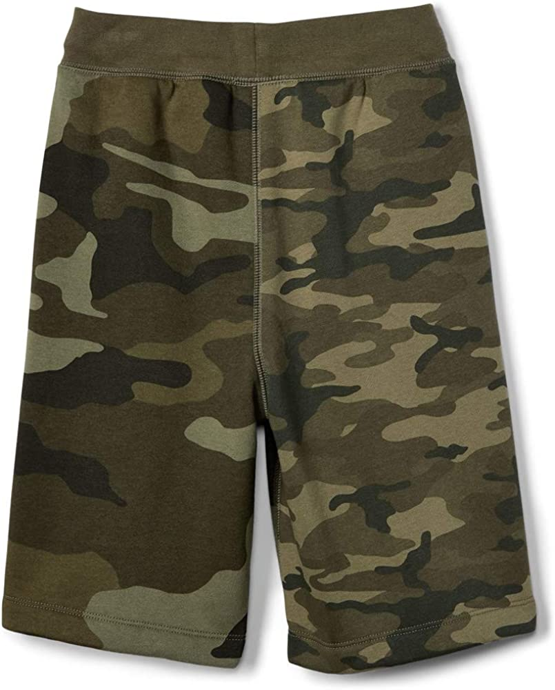 Gap Kids Boys Green Camo Logo Fleece Knit Shorts Medium 8
