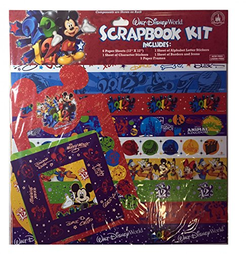 Disney World Scrapbooking (14Pc 2012 Walt Disney World Mickey Friends Scrapbook)