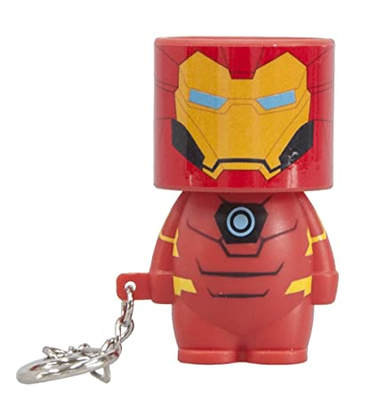 Amazon.com: Marvel Look-ALite llavero linterna, Iron Man ...