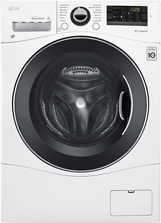 Amazon Com Lg Wm3488hw 24 Washer Dryer Combo With 2 3 Cu Ft Capacity Stainless Steel Drum In White Appliances
