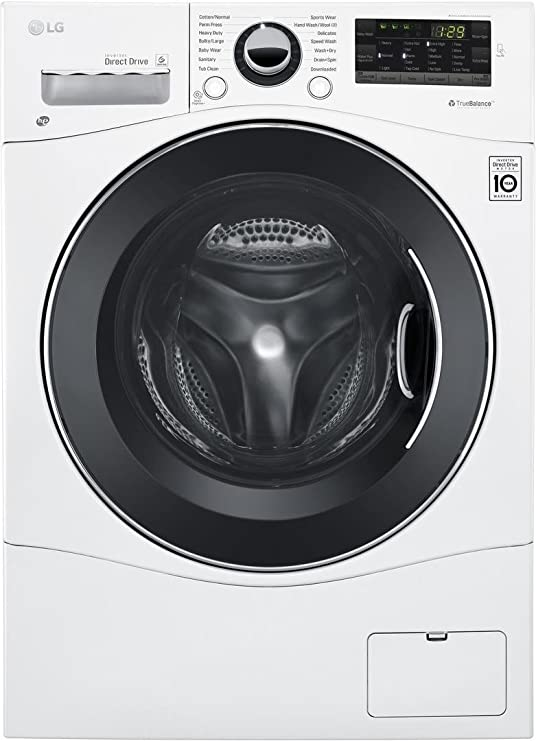 "LG WM3488HW 24"" Washer/Dryer Combo with 2.3 cu. ft. Capacity, Stainless Steel Drum in White Best All-in-One Washer Dryer Combo Machines"