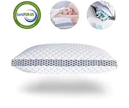 LIANLAM Memory foam Shredded Bed Bamboo Cooling Pillow