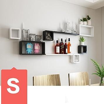 Wand Bücherregal TV Wanddekorationen Wohnzimmer Esszimmer Wand Trimmen Sofa  Regal Schlafzimmer Trennwände Wanddekoration (Mehrfache