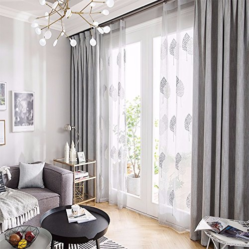 PEIWENIN Schlafzimmer Vorhänge einfarbig modernen minimalistischen fertig Wohnzimmer Vorhänge Küche Vorhänge, mit Vorhängen, Single, Breite: 150 cm * Höhe: 270 cm, grau