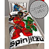 Lego Ninjago Warrior Single/US Twin Duvet Cover and Pillowcase Set
