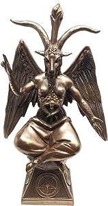 Ebros Gift Baphomet Figurine The Sabbatic Goat Satanic Church Decorative 9.5