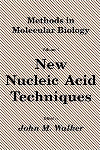 New Nucleic Acid Techniques (Methods in Molecular Biology Vol 4)